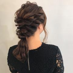 ヘアアレンジ 結婚式 ロング フェミニン ヘアスタイルや髪型の写真・画像