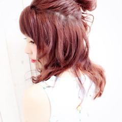 グラデーションカラー 簡単ヘアアレンジ ショート ヘアアレンジ ヘアスタイルや髪型の写真・画像