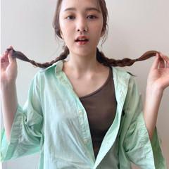 簡単ヘアアレンジ ロング ナチュラル セルフヘアアレンジ ヘアスタイルや髪型の写真・画像