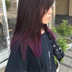 ストリート ピンク ダブルカラー カラーバター ヘアスタイルや髪型の写真・画像
