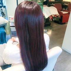 フェミニン デート ロング 冬 ヘアスタイルや髪型の写真・画像