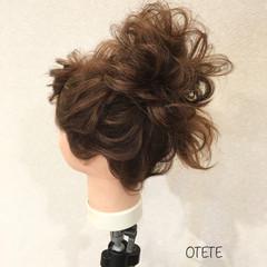 結婚式 セミロング ガーリー デート ヘアスタイルや髪型の写真・画像