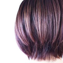 大人ハイライト ラベンダーアッシュ ナチュラル ラベンダーピンク ヘアスタイルや髪型の写真・画像
