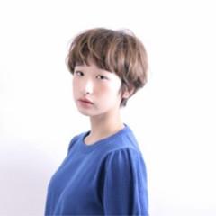 ナチュラル ショート ゆるふわ 大人女子 ヘアスタイルや髪型の写真・画像