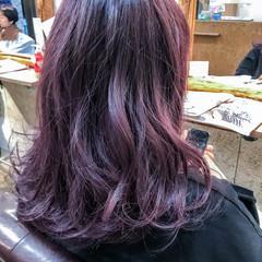 ラベンダーアッシュ ストリート ラベンダー 簡単ヘアアレンジ ヘアスタイルや髪型の写真・画像