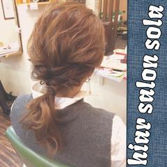セミロング 簡単ヘアアレンジ ショート ヘアアレンジ ヘアスタイルや髪型の写真・画像