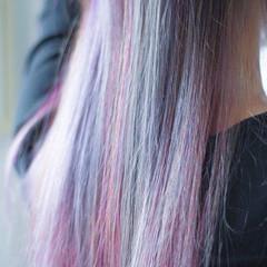 #インナーカラー インナーカラーレッド インナーカラーグレージュ インナーカラーパープル ヘアスタイルや髪型の写真・画像