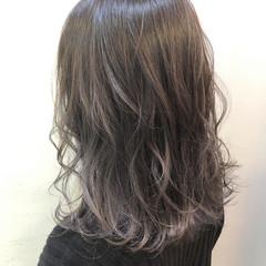 ゆるふわ デート ヘアアレンジ セミロング ヘアスタイルや髪型の写真・画像