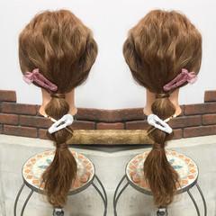 フェミニン ロング デート 謝恩会 ヘアスタイルや髪型の写真・画像