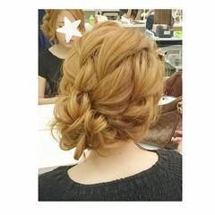 セミロング ヘアアレンジ 夏 色気 ヘアスタイルや髪型の写真・画像