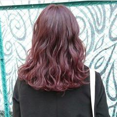 ピンク ストリート ダブルカラー ベージュ ヘアスタイルや髪型の写真・画像
