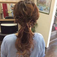 ナチュラル 簡単ヘアアレンジ ヘアアレンジ ロング ヘアスタイルや髪型の写真・画像