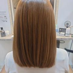 髪質改善トリートメント まとまるボブ 艶髪 セミロング ヘアスタイルや髪型の写真・画像