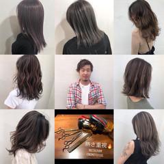 ナチュラル イルミナカラー 秋冬スタイル 大人ハイライト ヘアスタイルや髪型の写真・画像