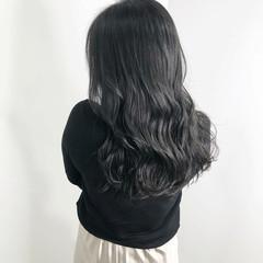 ダークアッシュ 暗髪 ナチュラル ロング ヘアスタイルや髪型の写真・画像