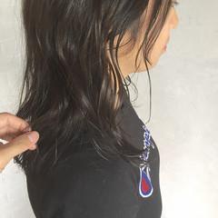 ナチュラル 暗髪 グレージュ 黒髪 ヘアスタイルや髪型の写真・画像