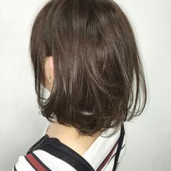 ストリート グレージュ 色気 ボブ ヘアスタイルや髪型の写真・画像