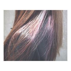 透明感 パープル ストリート アッシュ ヘアスタイルや髪型の写真・画像