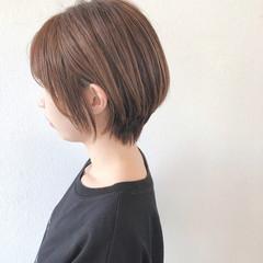 ナチュラル ハンサムショート ショートヘア ショートボブ ヘアスタイルや髪型の写真・画像