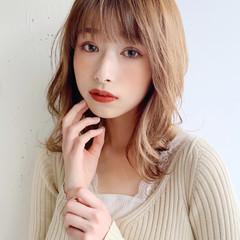モテボブ ひし形シルエット ワンカールスタイリング セミロング ヘアスタイルや髪型の写真・画像