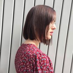 アウトドア ナチュラル オフィス ボブ ヘアスタイルや髪型の写真・画像
