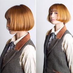 ショート ボブ ショートボブ 金髪 ヘアスタイルや髪型の写真・画像