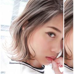 ハイライト グラデーションカラー 外ハネ ストリート ヘアスタイルや髪型の写真・画像