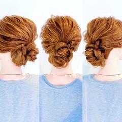 くるりんぱ フェミニン ロング ヘアセット ヘアスタイルや髪型の写真・画像