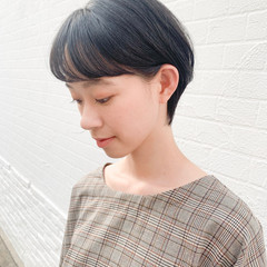 フェミニン 耳掛けショート ショートヘア ショート ヘアスタイルや髪型の写真・画像