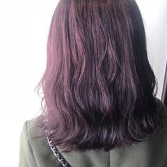 ピンクラベンダー ラベンダーグレージュ ミディアム イルミナカラー ヘアスタイルや髪型の写真・画像