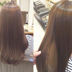 ロング リラックス 艶髪 オフィス ヘアスタイルや髪型の写真・画像