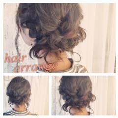 ヘアアレンジ 編み込み ゆるふわ ガーリー ヘアスタイルや髪型の写真・画像