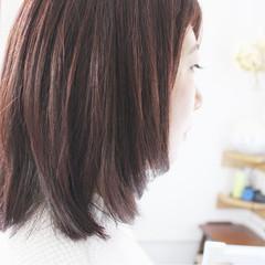 ラベンダー 大人女子 ミディアム フェミニン ヘアスタイルや髪型の写真・画像