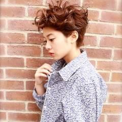 ウェットヘア パンク ショート 春 ヘアスタイルや髪型の写真・画像