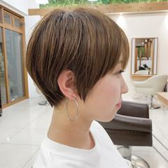 ショートヘア ハンサムショート 可愛い ふんわり ヘアスタイルや髪型の写真・画像