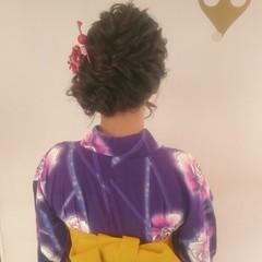ゆるふわ ヘアアレンジ 和装 ロング ヘアスタイルや髪型の写真・画像