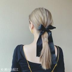 モテ髪 ヘアアレンジ ゆるふわ ロング ヘアスタイルや髪型の写真・画像