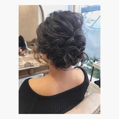 ヘアアレンジ ボブ ナチュラル 結婚式 ヘアスタイルや髪型の写真・画像
