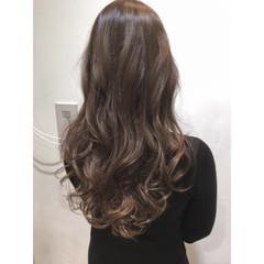 ロング グラデーションカラー ガーリー ハイライト ヘアスタイルや髪型の写真・画像