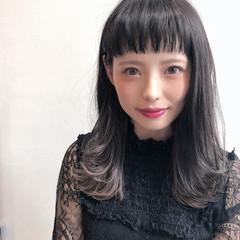 透明感 モード ハイライト ハイトーン ヘアスタイルや髪型の写真・画像