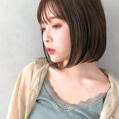 アンニュイほつれヘア 髪質改善トリートメント ボブ ナチュラル ヘアスタイルや髪型の写真・画像