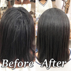 ナチュラル ミディアム ツヤ髪 髪質改善 ヘアスタイルや髪型の写真・画像