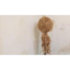 ナチュラル フェミニン 簡単ヘアアレンジ ロング ヘアスタイルや髪型の写真・画像