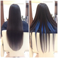 艶髪 ロング ブリーチ ストリート ヘアスタイルや髪型の写真・画像