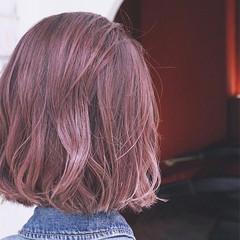 ストリート グラデーションカラー 大人かわいい ピンク ヘアスタイルや髪型の写真・画像