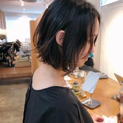 インナーカラー パーマ ボブ ハイライト ヘアスタイルや髪型の写真・画像