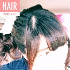 ポニーテール ナチュラル ゆるふわ ロング ヘアスタイルや髪型の写真・画像