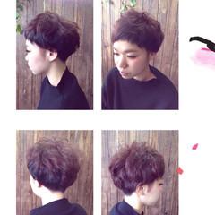 ストリート マッシュ ダブルカラー ショートボブ ヘアスタイルや髪型の写真・画像