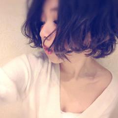 アッシュ モード ロブ 大人女子 ヘアスタイルや髪型の写真・画像