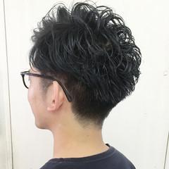 ストリート ショート アッシュ パーマ ヘアスタイルや髪型の写真・画像
